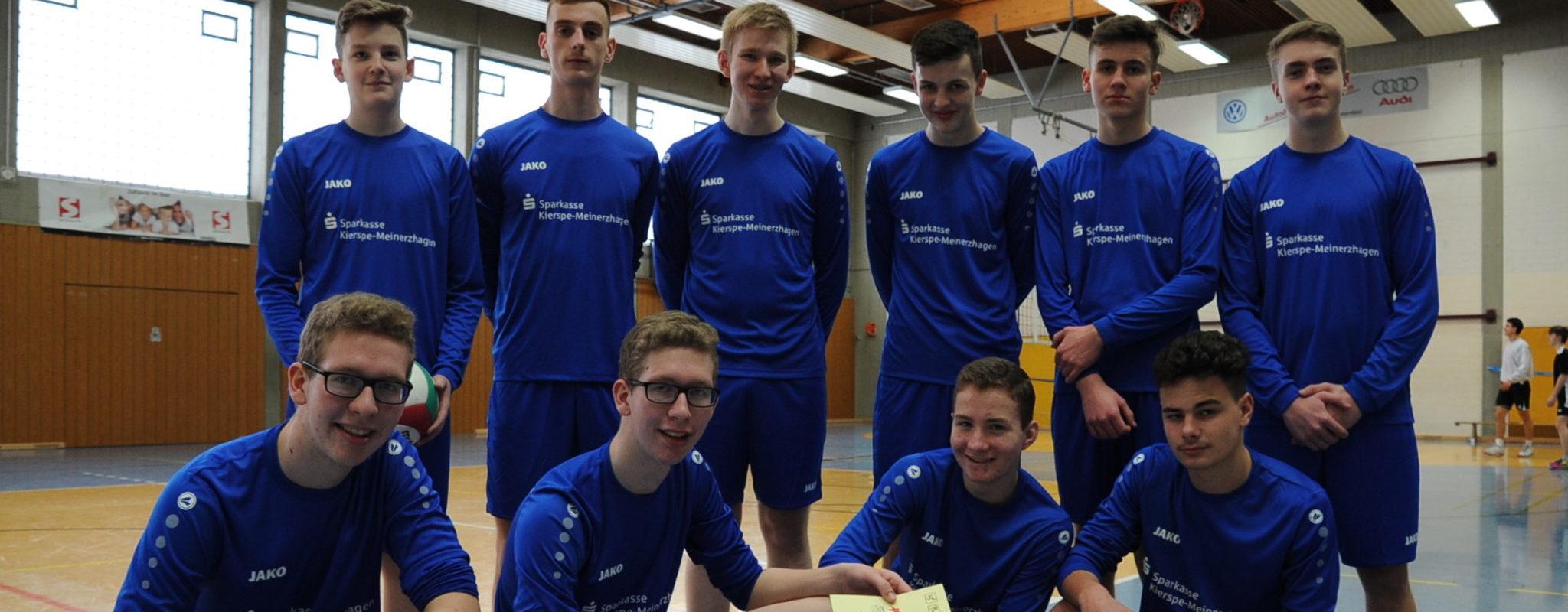 Volleyballer bei Regierungsbezirks-Endrunde auf Platz 5