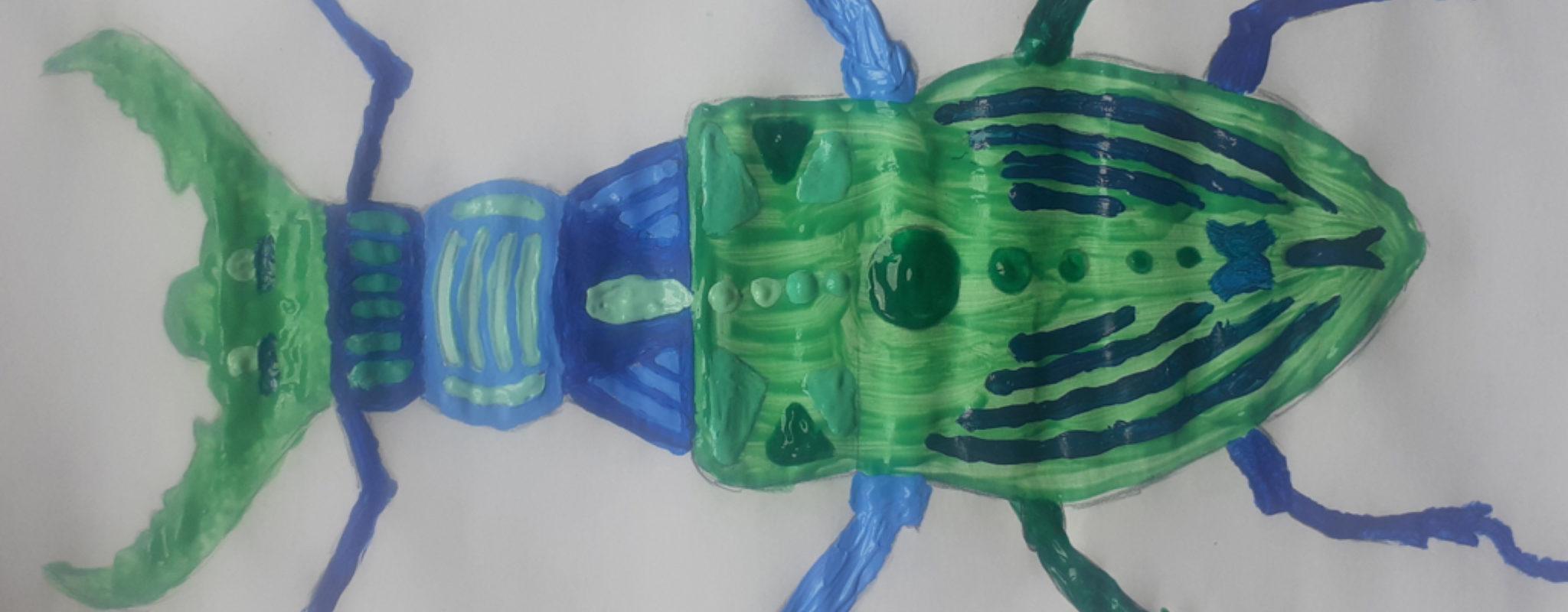 Künstlerische Krabbeltiere